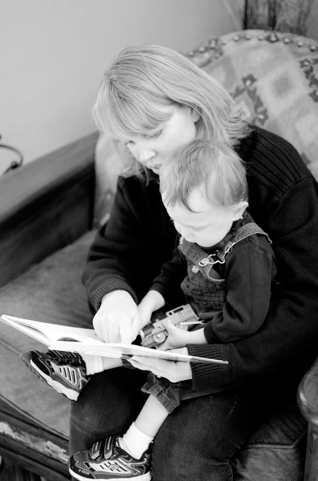 Jen reading to Xavier