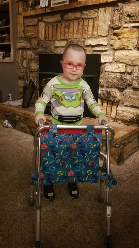 Xavier-Bringhurst-with-walker-hydrocephaluls-August-2019