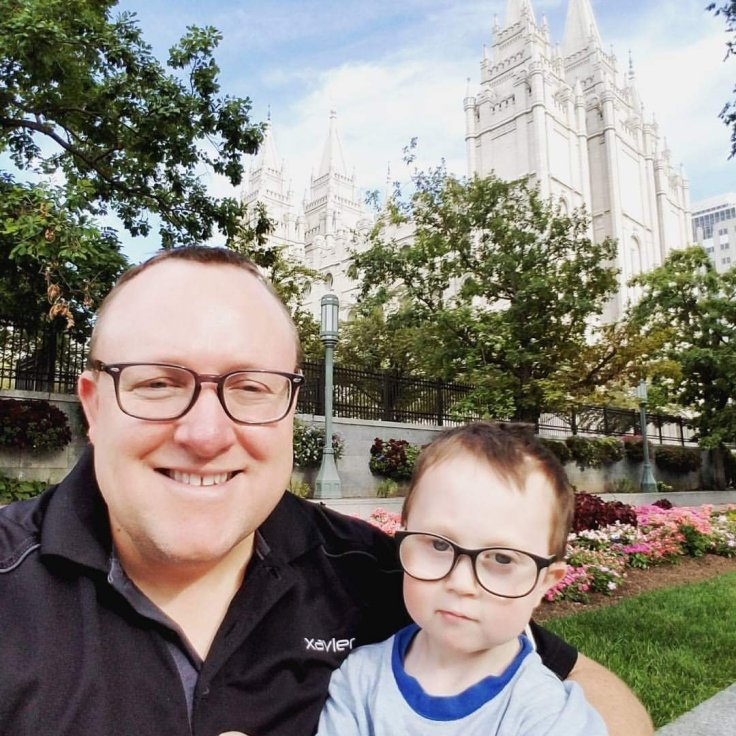 Xavier and Jason Bringhurst Temple Square